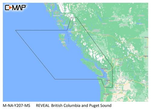 C-map Reveal Coastal British Columbia And Puget Sound