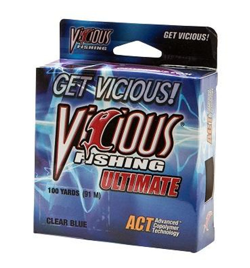 Vicious Ultimate Clear/Blue 100yd 17lb