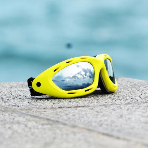 Classic Yellow Neon Frame/Smoke Lens Goggles PWC Eyewear