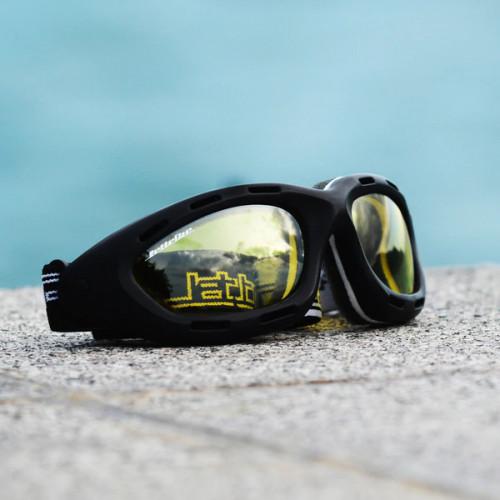 Classic Black Frame/ Amber Lens Goggles PWC Jetski Ride & Race