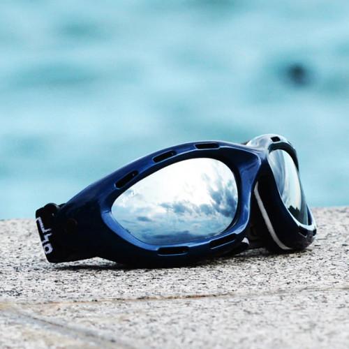 Classic Blue Frame/ Smoke Lens Goggles PWC Jetski Ride