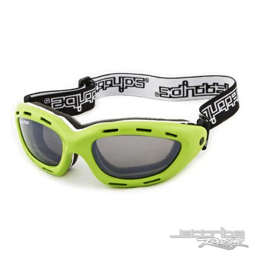 Classic Green Frame/Smoke Lens Goggles PWC Jetski Ride & Race