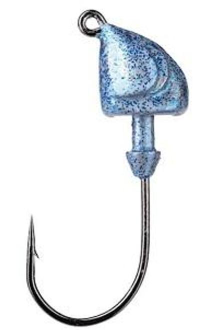 Strike King Squadron Swimbait Jig Head 1/4oz 3ct Blue Glimmer