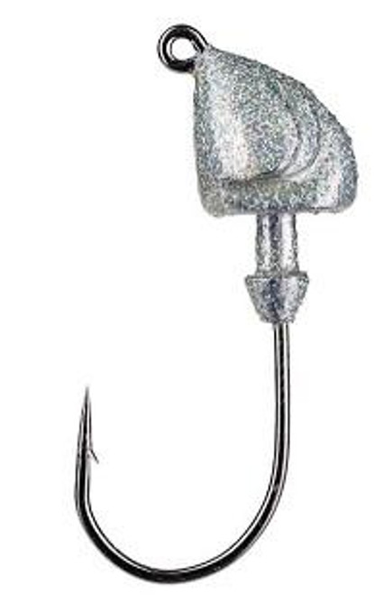 Strike King Squadron Swimbait Jig Head 3/4oz 3ct Silver Bling