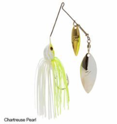 Z-Man Power Slingbladez Spinnerbait 3/4 Wil/Wil Chartreuse Pearl