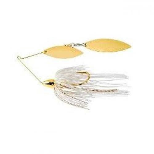 War Eagle Spinnerbait Gold Frame DW 1/2 White Gold - WE12GW01G