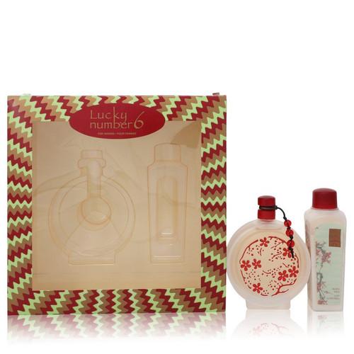 Lucky Number 6 by Liz Claiborne Gift Set -- 3.4 oz Eau De Parfum Spray + 3.4 oz Body Lotion for Women