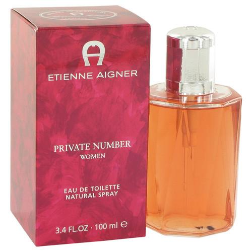 Private Number by Etienne Aigner Eau De Toilette Spray 3.4 oz for Women