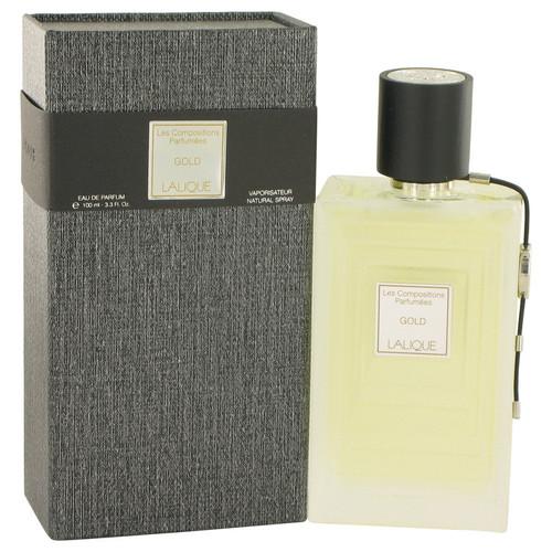 Les Compositions Parfumees Gold by Lalique Eau De Parfum Spray 3.3 oz for Women