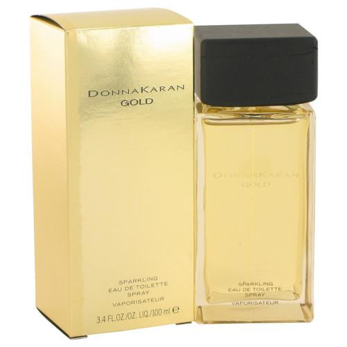 Donna Karan Gold Sparkling by Donna Karan Eau De Toilette Spray 3.4 oz for Women
