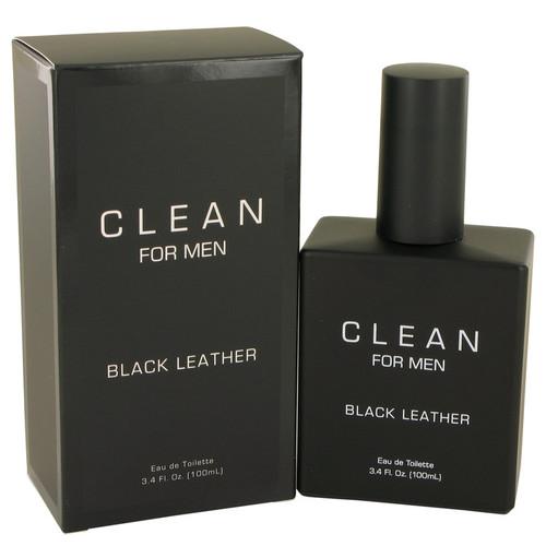 Clean Black Leather by Clean Eau De Toilette Spray 3.4 oz for Men