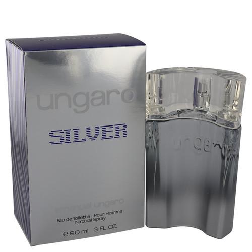 Ungaro Silver by Ungaro Eau De Toilette Spray 3 oz for Men
