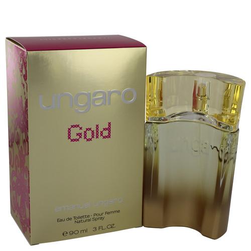 Ungaro Gold by Ungaro Eau De Toilette Spray 3 oz for Women
