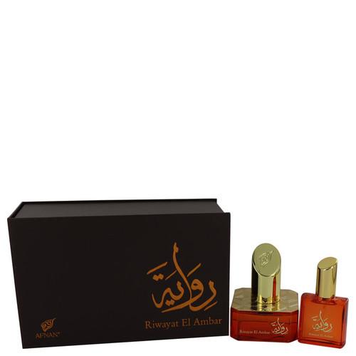 Riwayat El Ambar by Afnan Eau De Parfum Spray + Free .67 oz Travel EDP Spray 1.7 oz for Women