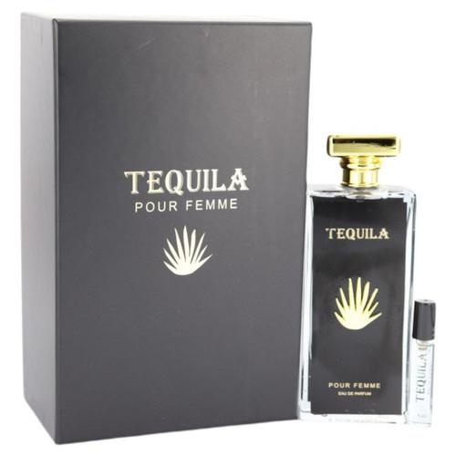 Tequila Pour Femme Noir by Tequila Perfumes Eau De Parfum Spray with Free Mini .17 oz EDP 3.3 oz for Women