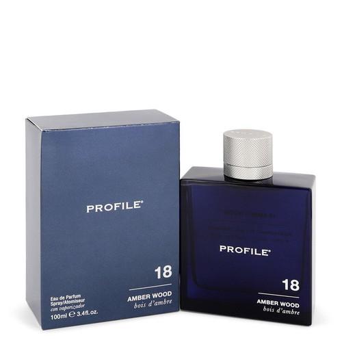 18 Amber Wood by Profile Eau De Parfum Spray 3.4 oz for Men
