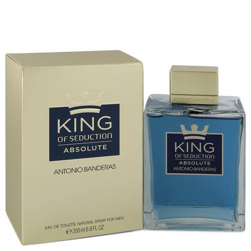 King of Seduction Absolute by Antonio Banderas Eau De Toilette Spray 6.7 oz for Men
