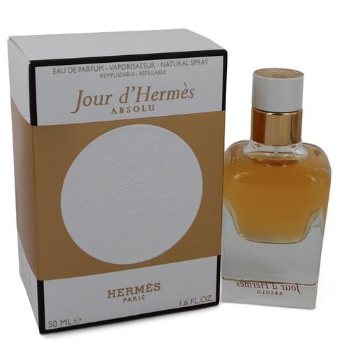Jour D'hermes Absolu by Hermes Eau De Parfum Spray Refillable 1.6 oz for Women