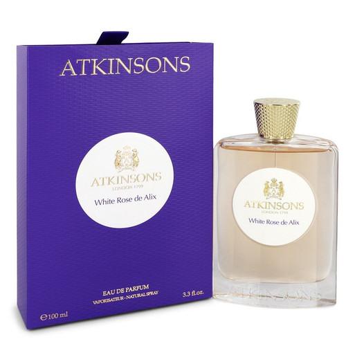 White Rose De Alix by Atkinsons Eau De Parfum Spray 3.3 oz for Women