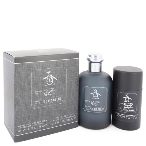 Original Penguin Iconic Blend by Original Penguin Gift Set -- 3.4 oz Eau De Toilette Spray + 2.75 oz Deodorant Stick for Men