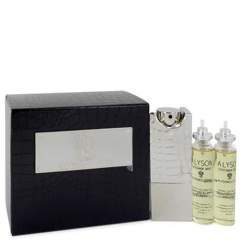 Chocman Mint by Alyson Oldoini  Eau De Parfum Refillable Spray Includes 3 x Refills and Atomizer 2 oz for Men