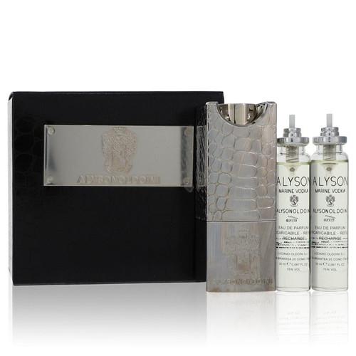 Marine Vodka by Alyson Oldoini  Eau De Parfum Refillable Spray Includes 3 x 20ml and Refillable Atomizer 2 oz for Men