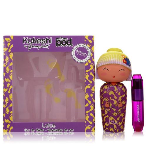 Kokeshi Lotus by Kokeshi Gift Set -- 1.7 oz Eau de Toilette + .16 oz Refillable PerfumePod for Women