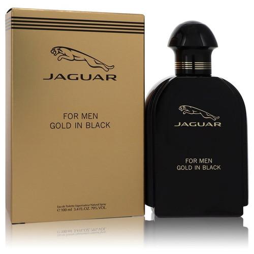 Jaguar Gold In Black by Jaguar Eau De Toilette Spray 3.4 oz for Men
