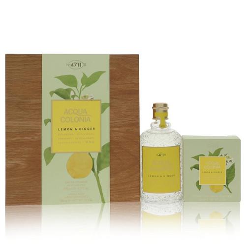4711 ACQUA COLONIA Lemon & Ginger by 4711 Gift Set -- 5.7 oz Eau de Cologne Splash & Spray + 3.5 oz Aroma Soap for Women