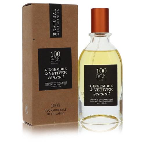 100 Bon Gingembre & Vetiver Sensuel by 100 Bon Concentree De Parfum Spray (Unisex Refillable) 1.7 oz for Men