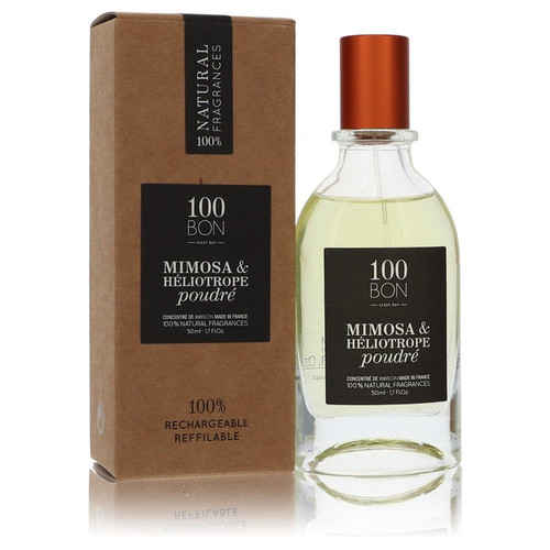100 Bon Mimosa & Heliotrope Poudre by 100 Bon Concentree De Parfum Spray (Unisex Refillable) 1.7 oz for Men