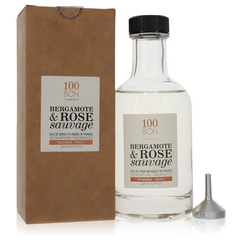 100 Bon Bergamote & Rose Sauvage by 100 Bon Eau De Parfum Refill 6.7 oz for Men