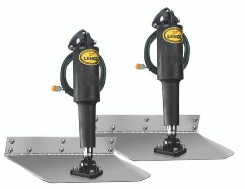 "Lenco 9""""x24"""" Standard Mount Trim Tab Kit 12v Requires Switch"