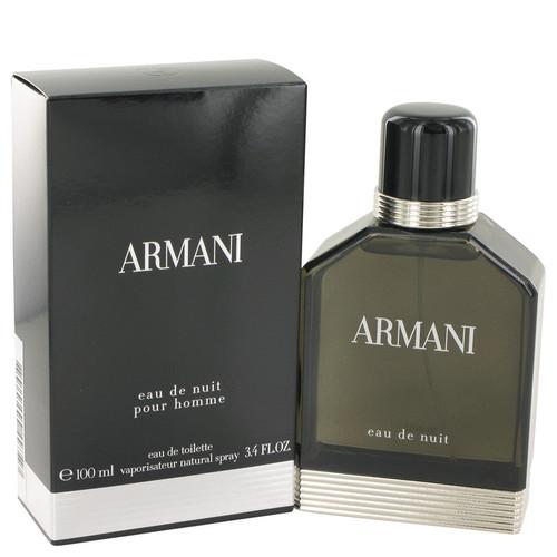 Armani Eau De Nuit by Giorgio Armani Eau De Toilette Spray 3.4 oz for Men