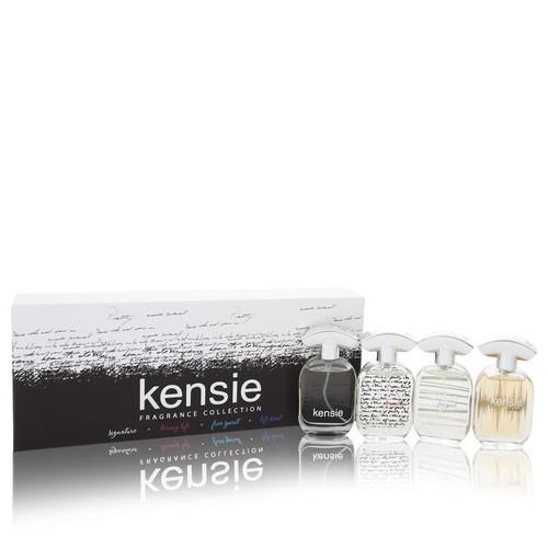 Kensie by Kensie Gift Set -- Kensie Fragrance Collection includes Kensie, Kensie Loving Life, Kensie Free Spirit, Kensie Life Beat all in 0.68 oz Mini EDP sprays for Women