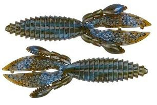 """Strike King Rodent 3"""" 8ct Blue Craw Red Flake"""