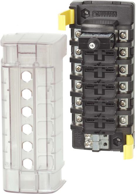 Blue Sea St Clb Circuit Breaker Block - 6 Independant Circuits