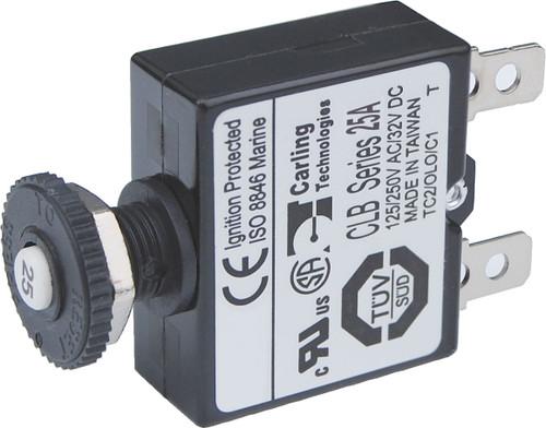 Blue Sea 25a Push Button Qucik Connect Circuit Breaker