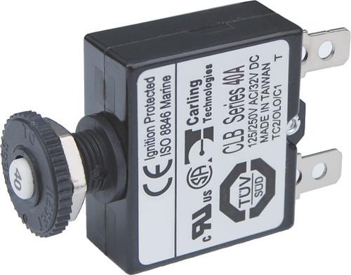 Blue Sea 40a Push Button Qucik Connect Circuit Breaker
