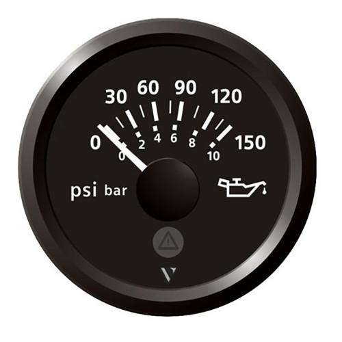 "Veratron 52mm (2-1\/16"") Viewline Engine Oil Pressure 150 PSI - Black Dial  Bezel"