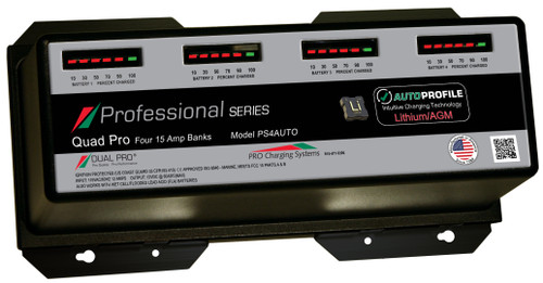 Dual Pro Ps4auto Battery Charger, Auto Profille 4 Bank 60 Amps