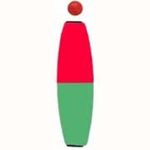 "Comal Cigar Slip Float w/Bead 3.00"" Red/Green 25/bag - CB300RG-25"