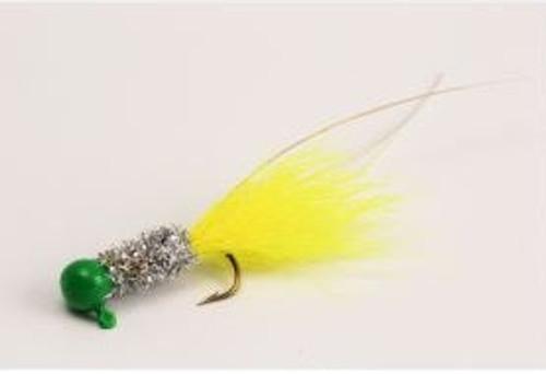 Slater Original Jig 1/16 Green/Silver/Chartreuse #4 Hook 2pk