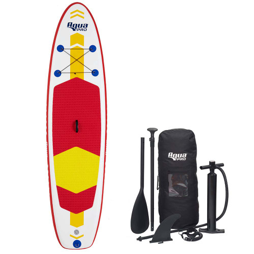 Aqua Leisure 10 Inflatable Stand-Up Paddleboard Drop Stitch w\/Oversized Backpack f\/Board  Accessories