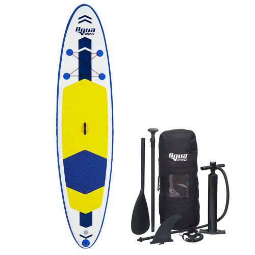 Aqua Leisure 10.6 Inflatable Stand-Up Paddleboard Drop Stitch w\/Oversized Backpack f\/Board  Accessories