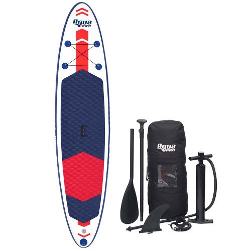 Aqua Leisure 11 Inflatable Stand-Up Paddleboard Drop Stitch w\/Oversized Backpack f\/Board  Accessories