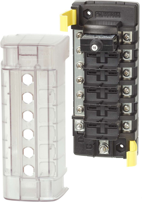 Blue Sea St Clb Circuit Breaker Block - 6 Position With Negative Bus