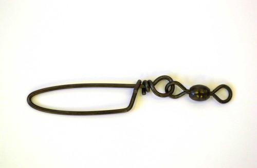 Eagle Claw Swivel-Black Crane w/Coastlock Snap 12ct/12pk Size 7