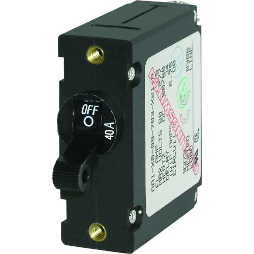 Blue Sea 7224 AC \/ DC Single Pole Magnetic World Circuit Breaker  -  40 Amp