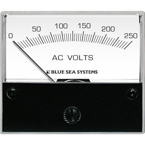 Blue Sea 9354 AC Analog Voltmeter 0-250 Volts AC
